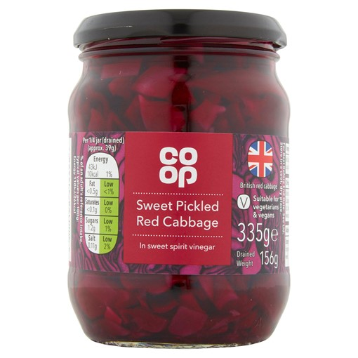 Picture of Co-op Sweet Pickled Red Cabbage 335g