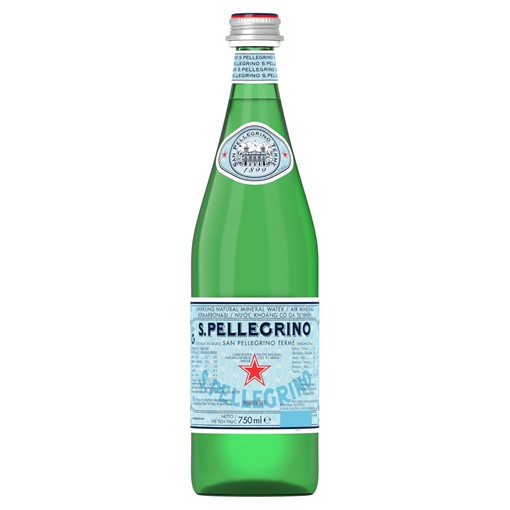 Picture of San Pellegrino Sparkling Natural Mineral Water Glass 750ml
