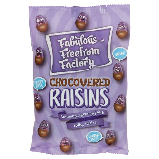 Picture of Fabulous Freefrom Factory Dairy Free Chocovered Raisins 75g