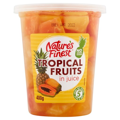 Picture of Natures Finest Tropical Fruits in Juice 400g