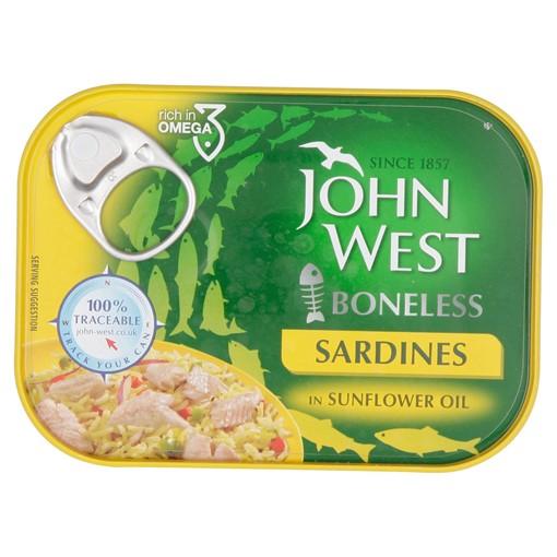 Picture of John West Boneless Sardines in Sunflower Oil 95g