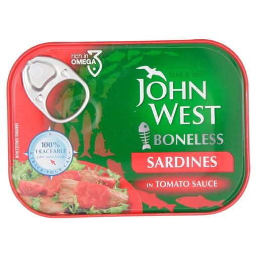 Picture of John West Boneless Sardines in Tomato Sauce 95g