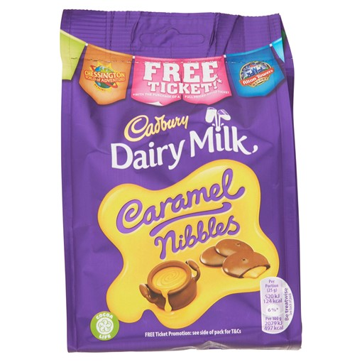 Picture of Cadbury Dairy Milk Caramel Nibbles Chocolate Bag 120g