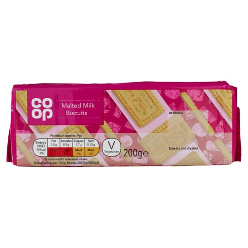Picture of Co Op Malted Milk Biscuits 200g