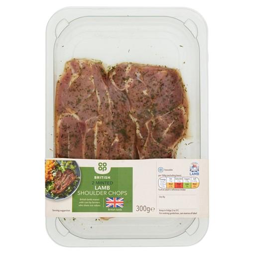 Picture of Co Op 2 British Minted Lamb Shoulder Chops 300g