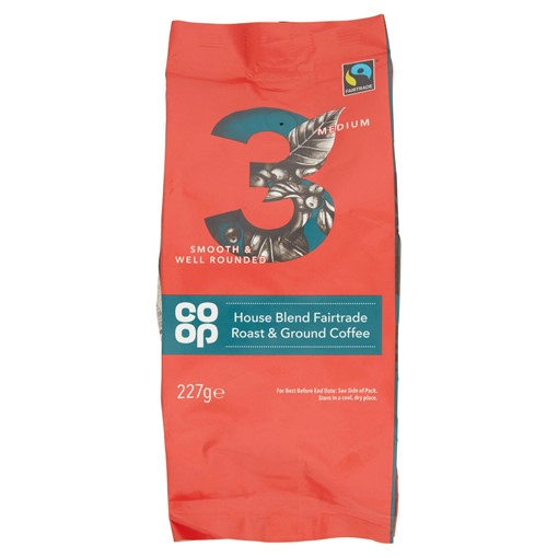 Picture of Co Op House Blend Fairtrade Roast & Ground Coffee 227g