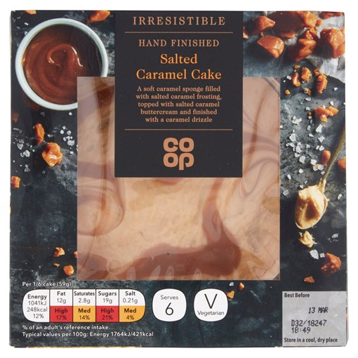 Picture of Co-op Irresistible Salted Caramel Cake