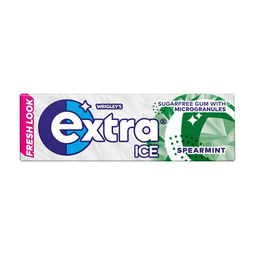 Picture of Extra Ice Spearmint Chewing Gum Sugar Free 10 Pieces