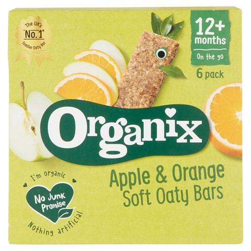 Picture of Organix Apple & Orange Organic Soft Oat Snack Bars Multipack 6 x 30g