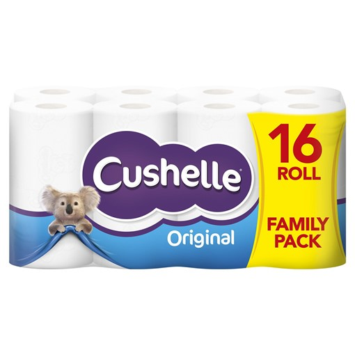 Picture of Cushelle White 16 Toilet Rolls