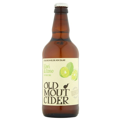 Picture of Old Mout Cider Kiwi & Lime Bottle 500ml