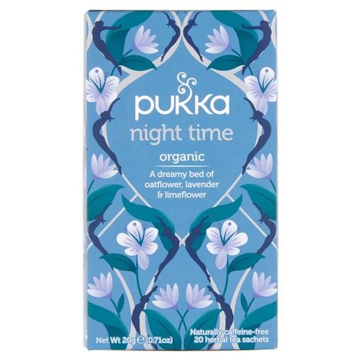 Picture of Pukka Organic Night Time 20 Herbal Tea Sachets 20g