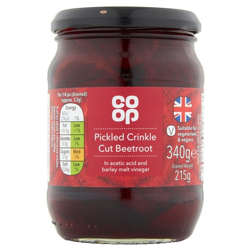 Picture of Co-op Pickled Crinkle Cut Beetroot 340g