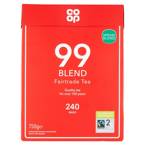 Picture of Co Op Fairtrade 99 Tea Blend 240 Round Bags 750g