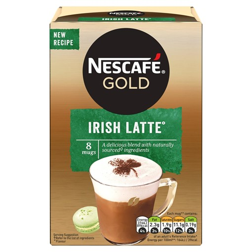 Picture of Nescafe Gold Irish Latte Instant Coffee 22g x 8 Sachets