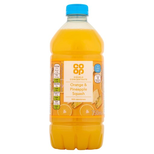Picture of Co-op Orange & Pineapple Squash 750ml