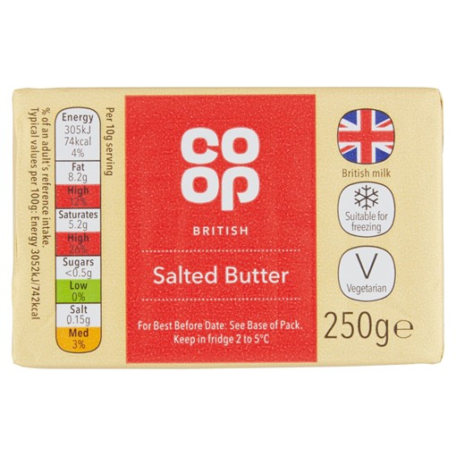 Picture of Co-op British Salted Butter 250g