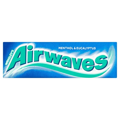 Picture of Wrigley's Airwaves Menthol & Eucalyptus Flavour Sugarfree Chewing Gum 10 Pieces 14g