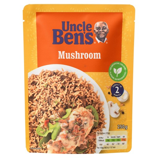 Picture of Uncle Bens Mushroom Microwave Rice 250g