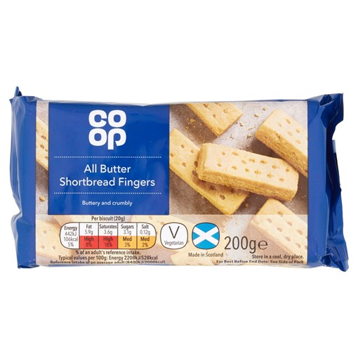 Picture of Co-op All Butter Shortbread Fingers 200g