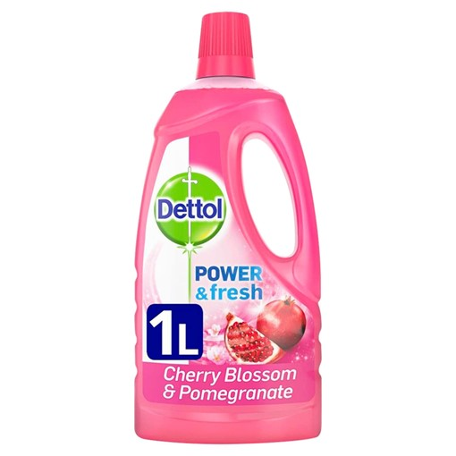 Picture of Dettol Power and Fresh Floor Cleaner, Cherry Blossom & Pomegranate 1 Litre