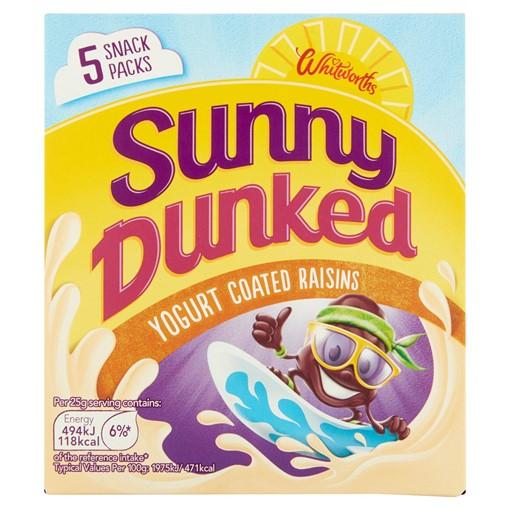 Picture of Whitworths Sunny Dunked Yogurt Coated Raisins 5 x 25g (125g)
