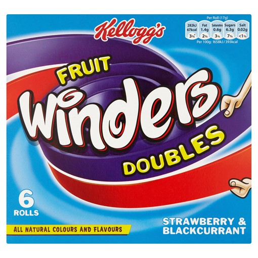 Picture of Kellogg's Fruit Winders Strawberry & Blackcurrant, 17g (Pack of 6)
