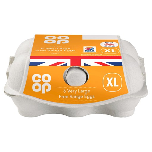 Picture of Co-op British 6 Very Large Free Range Eggs