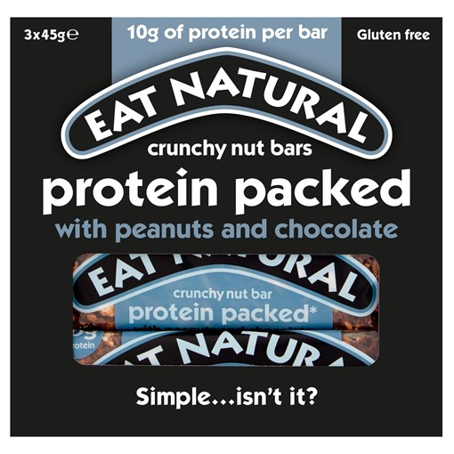 Picture of Eat Natural Protein Packed Crunchy Nut Bars with Peanuts and Chocolate 3 x 45g