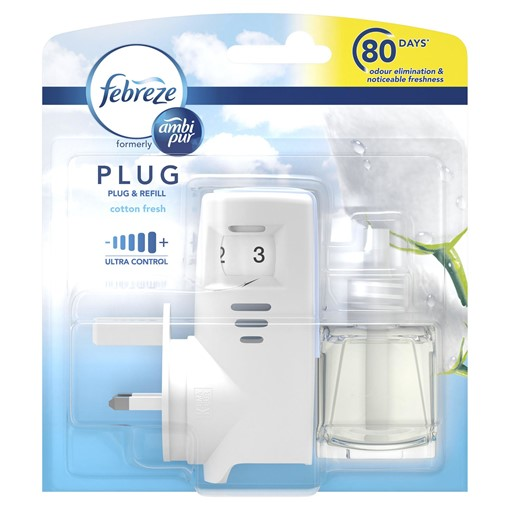 Picture of Febreze With Ambi Pur Pur Air Freshener Plug-In Starter Kit Cotton Fresh 20ML