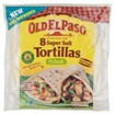 Picture of Old El Paso Regular Super Soft Flour Tortillas x8 326g