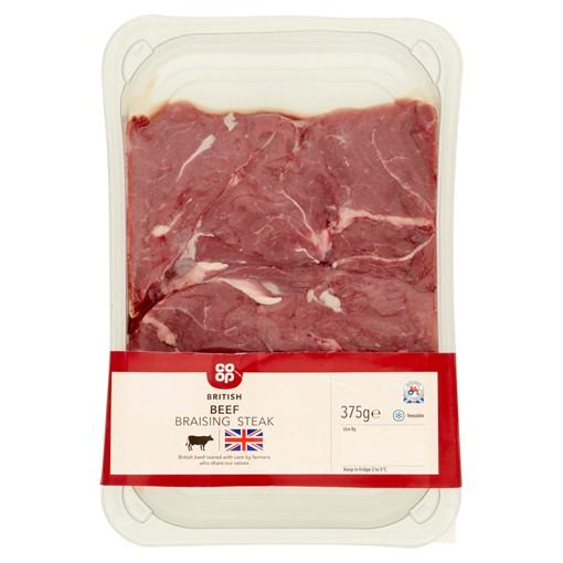 Picture of Co-op British Fresh Beef Braising Steak 375g