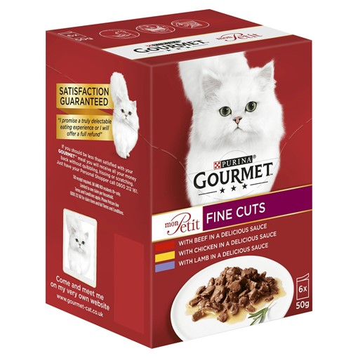 Picture of Gourmet Mon Petit Cat Food Pouches Meat 6 x 50g