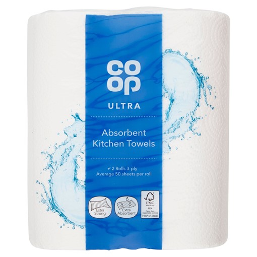 Picture of Co-op Ultra Absorbent Kitchen Towels 2 Rolls