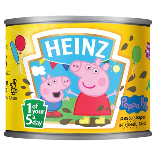 Picture of Heinz Peppa Pig Pasta Shapes in Tomato Sauce 205g