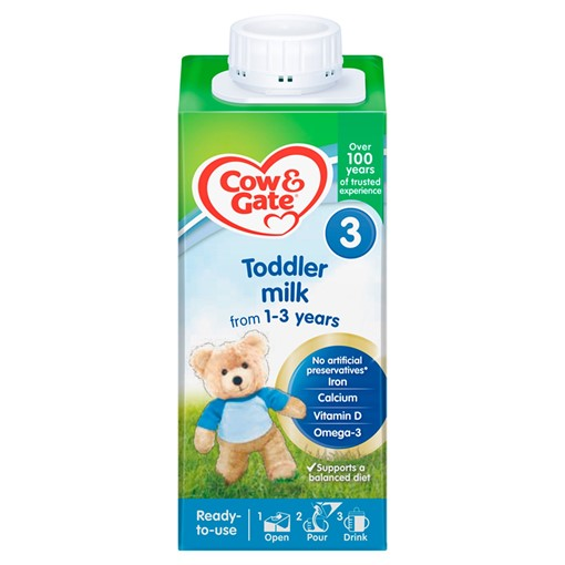 Picture of Cow & Gate 3 Toddler Milk from 1-3 Years 200ml
