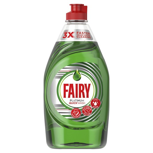 Picture of Fairy Platinum Quickwash Original Washing Up Liquid With Up To 3X Faster Tough Grease Cleaning 383ml