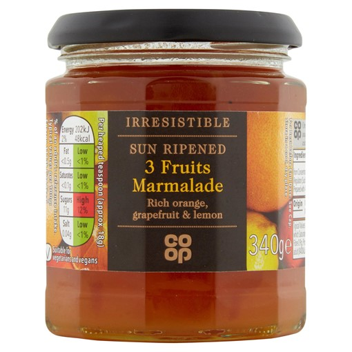 Picture of Co-op Irresistible 3 Fruits Marmalade 340g