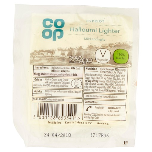 Picture of Co Op Cypriot Halloumi Lighter 225g