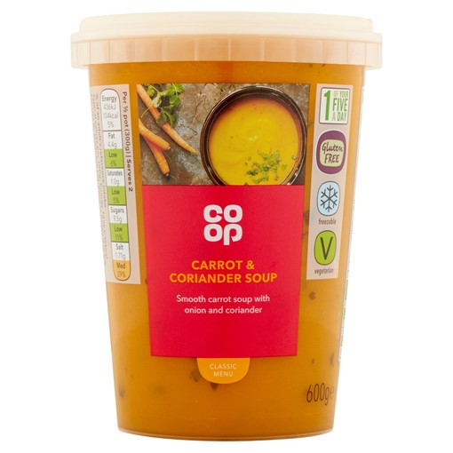 Picture of Co Op Carrot & Coriander Soup 600g