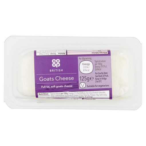 Picture of Co-op British Goats Cheese 125g