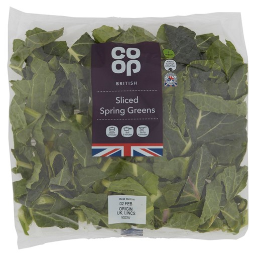 Picture of Co-op British Sliced Spring Greens 200g