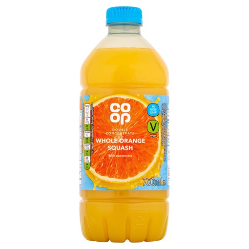 Picture of Co-op Whole Orange Squash 750ml