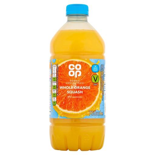 Picture of Co-op Whole Orange Squash 750ml