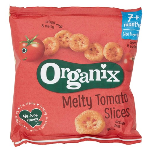 Picture of Organix Melty Tomato Slices Organic Baby Finger Food Snack 20g