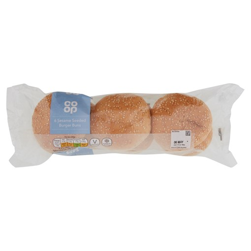 Picture of Co-op 6 Sesame Seeded Burger Buns