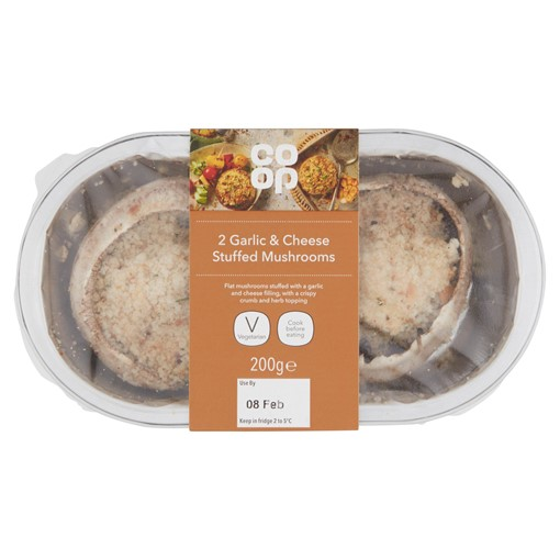 Picture of Co Op 2 Garlic & Cheese Stuffed Mushrooms 200g
