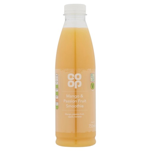 Picture of Co Op Mango & Passion Fruit Smoothie 750ml