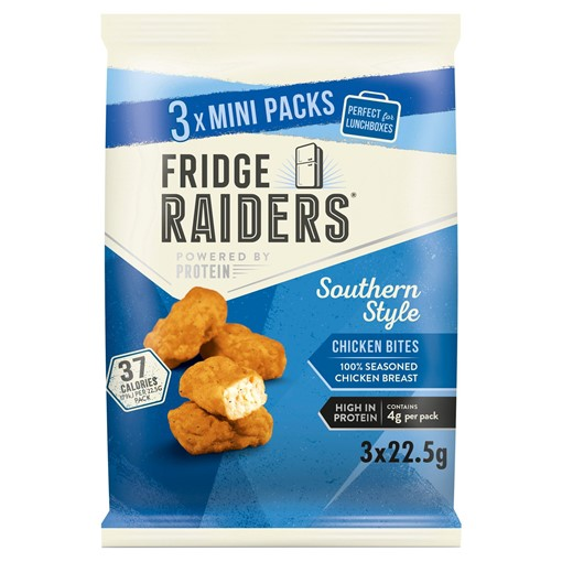 Picture of Fridge Raiders Southern Style Chicken Bites Mini Packs 3 x 22.5g