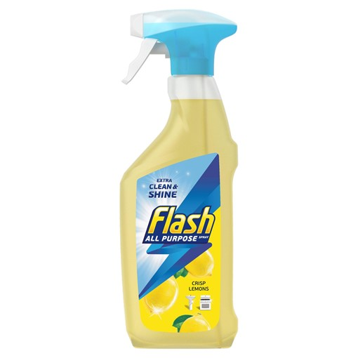 Picture of Flash Multi Purpose Cleaning Spray Lemon For Hard Surfaces 469ML